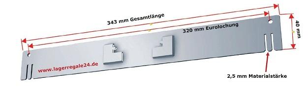 Einbautraverse-Z-Beschlag
